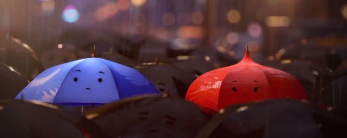 """The Blue Umbrella"" Disney Pixar .screenshot"
