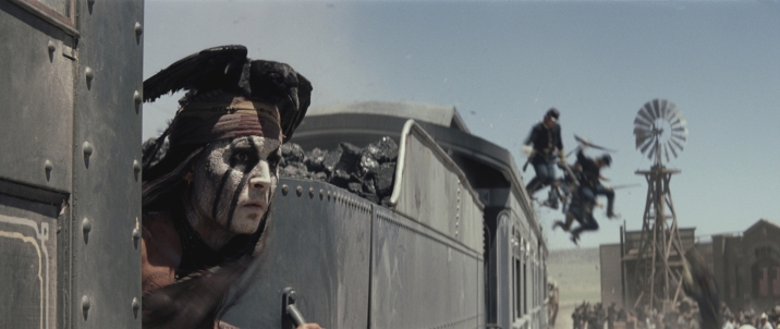 """""""THE LONE RANGER"""" Johnny Depp as Tonto ©Disney Enterprises, Inc. and Jerry Bruckheimer Inc. All Rights Reserved."""