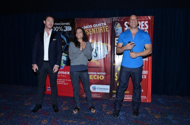 Vin Diesel, Michelle Rodríguez y Luke Evans  Los Cabos RÁPIDOS Y FURIOSOS 6  Universal Pictures México