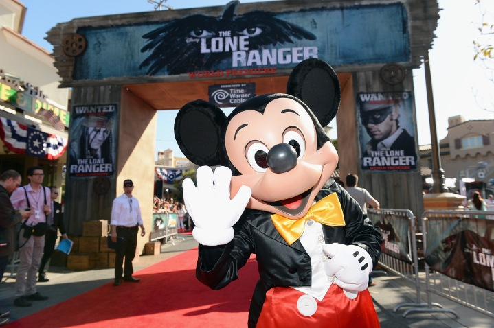 "attends The World Premiere of Disney/Jerry Bruckheimer Films' ""The Lone Ranger"" at Disney California Adventure Park on June 22, 2013 in Anaheim, California."