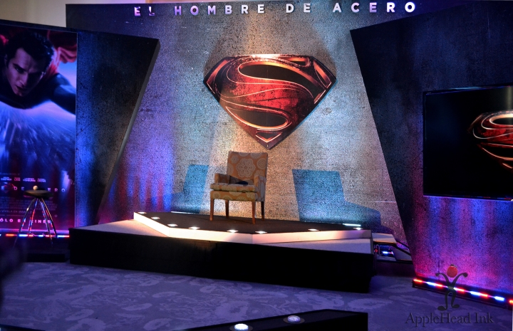 Man of Steel Conferencia de Prensa  Mexico 7/07/13,  Foto por AppleHead Ink