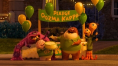 """""""MONSTERS UNIVERSITY"""" (L-R) ART, SCOTT """"SQUISHY"""" SQUIBBLES, DON CARLTON and TERRI & TERRY PERRY. ©2013 Disney•Pixar. All Rights Reserved."""
