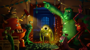 """""""MONSTERS UNIVERSITY"""" (L-R) MIKE and SULLEY amongst other monsters. ©2012 Disney/Pixar. All Rights Reserved"""