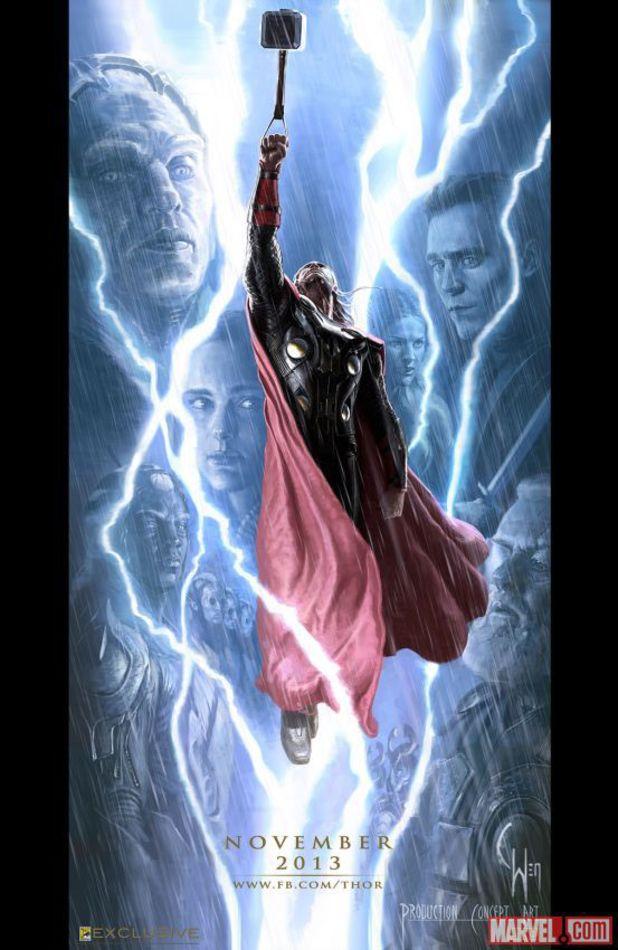 thor the dark world comic-con poster
