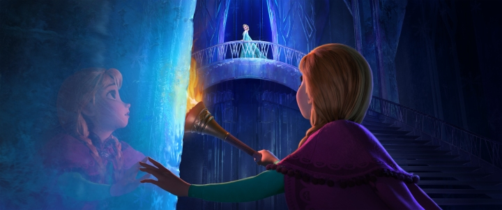 """FROZEN"" (Top to Bottom) ELSA and ANNA. ©2013 Disney."