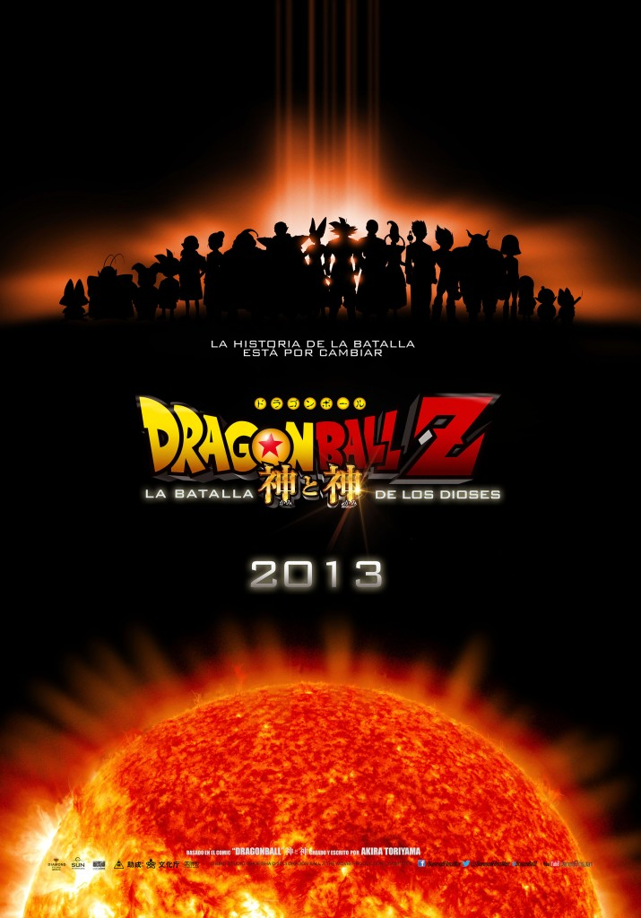 "Poster Oficial Dragon Ball Z "" Batalla  de los Dioses""-Diamond Films"