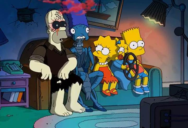 reehouse of Horror XXIV Couch Gag