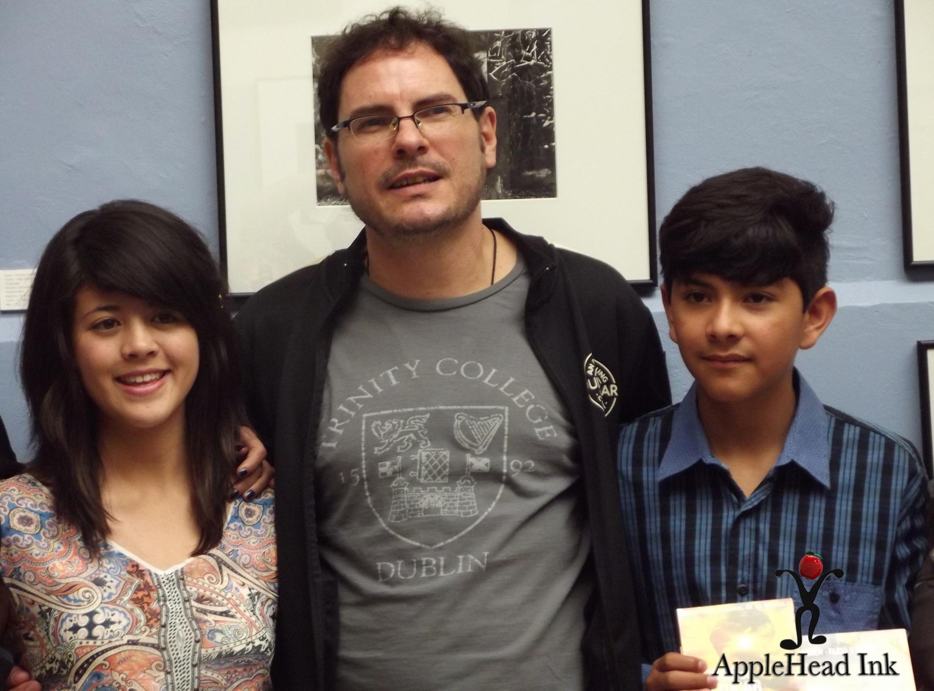 Carlos Cuaron y Protagonistas de Besos de Azucar Foto : AppleHead Ink The Blog