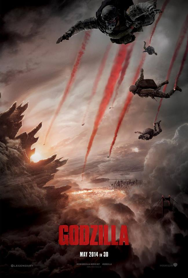 Poster Godzilla 2014 Warner Pictures .